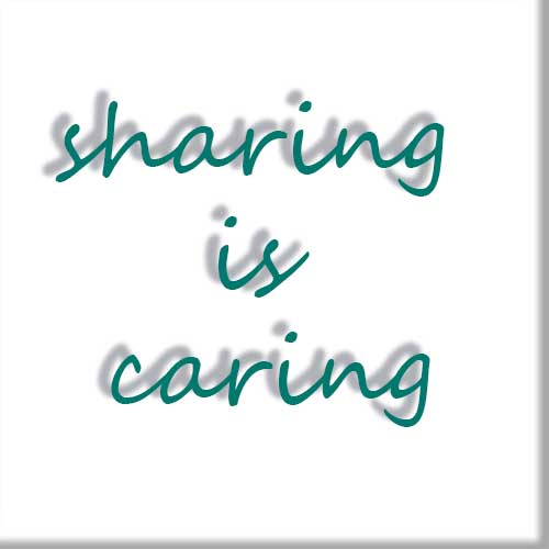 Sharing is caring tag
