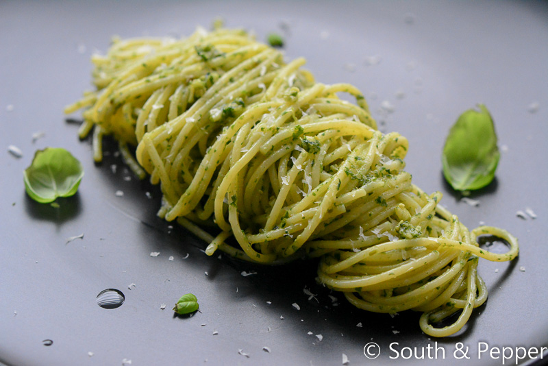 Homemade pasta pesto