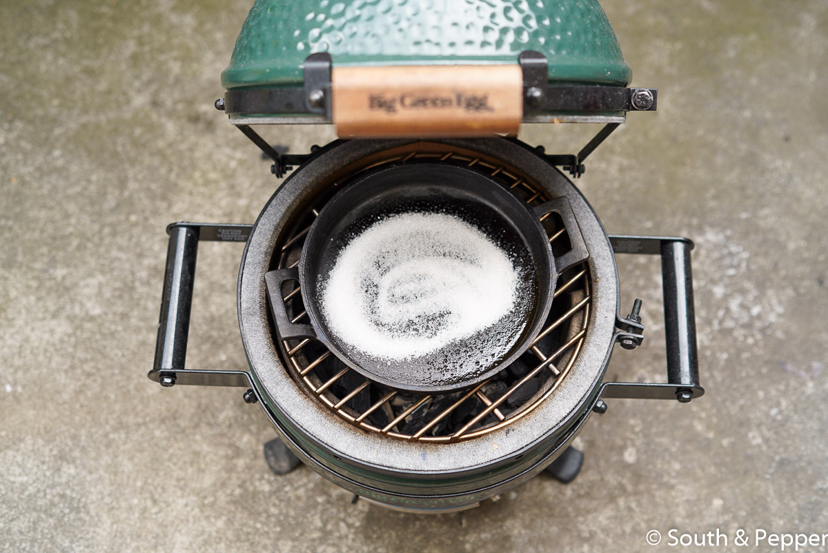 Koffie rocks op de big green egg